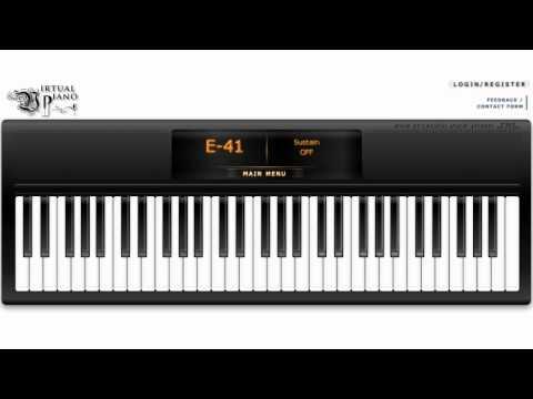 Happy birthday on Virtual Piano