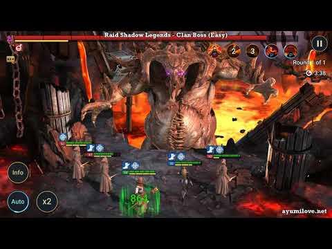 Raid Shadow Legends 3 Outlaw Monks vs Clan Boss (Easy, Normal, Hard)