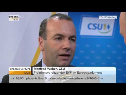 CSU-Parteitag: Interview mit Manfred Weber am 20.11.2015