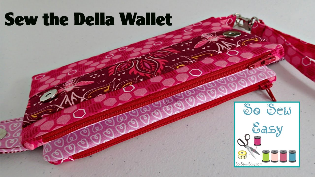 Sew the Della Wallet Clutch Bag. So Sew Easy fa788076d02bb
