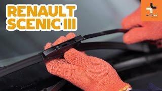 Sådan udskifter du viskerblade foran på RENAULT SCENIC 3 GUIDE | AUTODOC