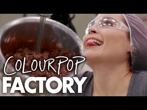 Making Eyeshadow at ColourPop HQ!  (Beauty Trippin)