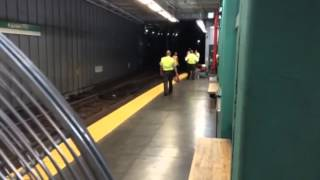 Inside Kenmore Square Train After Derailment