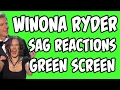 FREE Winona Ryder SAG Awards Reactions | Green Screen Footage | Lowcarbcomedy