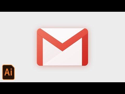 Gmail App Icon Design Tutorial  - Illustrator CC 2018