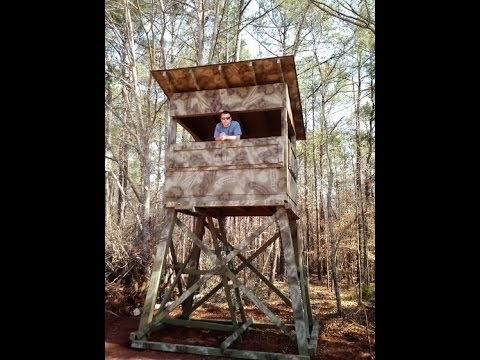 mike building raised hunting blind an windows page luxury elevated home brackets z e tower a blinds plans by