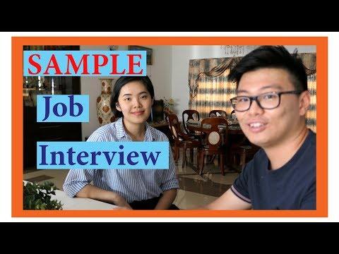 Sample of Fresh Graduate Job Interview