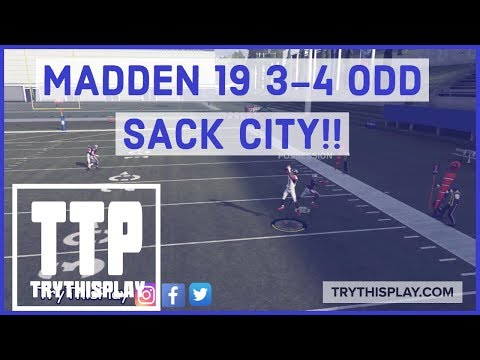 MADDEN 19 SACK CITY!! BEST DEFENSE POST PATCH - 3-4 ODD : Madden