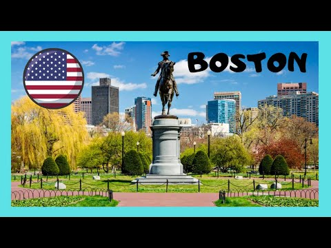 BOSTON, walking around America's oldest city park, Boston Common (Massachusetts, USA)