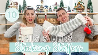 STOCKING STUFFER IDEAS for HIM and HER | VLOGMAS DAY 10