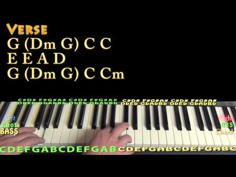 The Most Beautiful Girl (Charlie Rich) Piano Lesson Chord Chart
