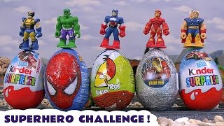 Marvel Superhero Kinder Surprise Egg Thomas The Train Play Doh Hot Wheels Angry Birds Transformers
