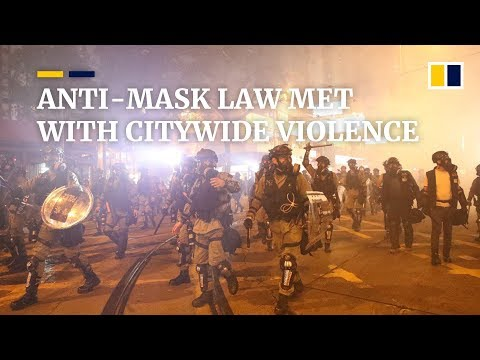 Anti-mask law in Hong Kong met with citywide violence