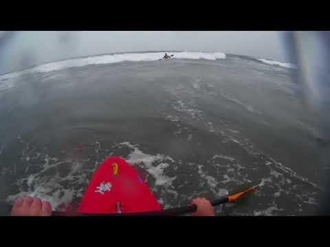 Kayaking at Lawrencetown beach, Nova Scotia