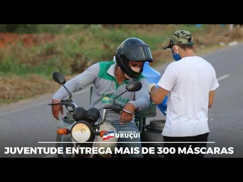 A Prefeitura de Uruçuí através da Secretaria da Juventude continua fazendo a entrega de máscaras