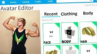 MAKING LOGAN PAUL A ROBLOX ACCOUNT