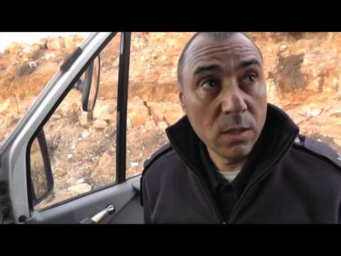 """Israeli police try to block """"anarchists"""" reaching South Hebron hills 28 12 2013"""