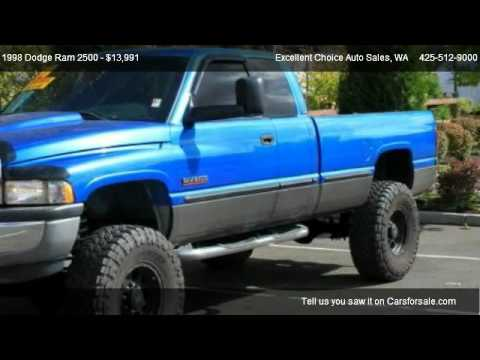 1998 Dodge Ram 2500 Quad Cab 8 Ft Bed 4wd For Sale In Everett Wa