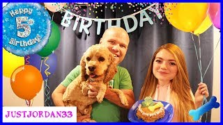 Surprise Puppy Dog Party For Logan! / JustJordan33