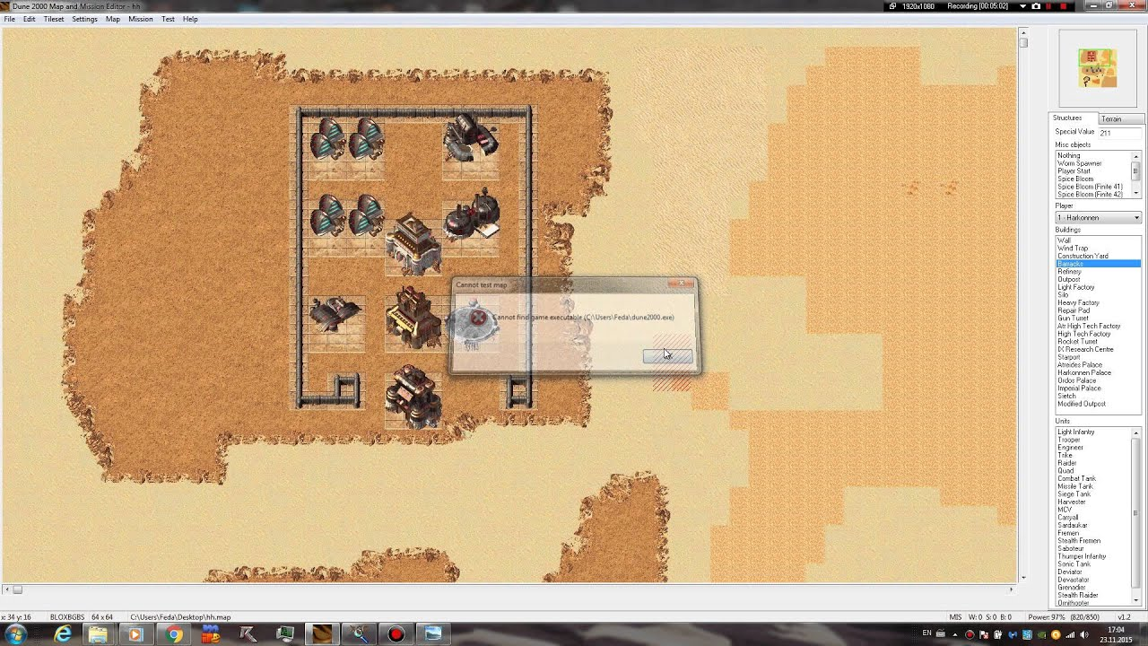 New Dune 2000 Map and Mission Editor  PART 2    Mission Settings     New Dune 2000 Map and Mission Editor  PART 2    Mission Settings   Scripting