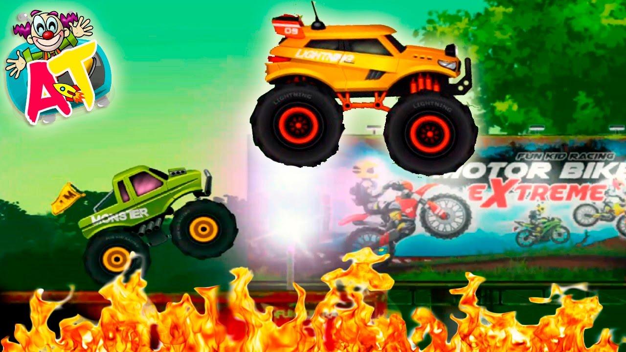 juego de coches y camiones monstruosos para nios carreras en la jungla i