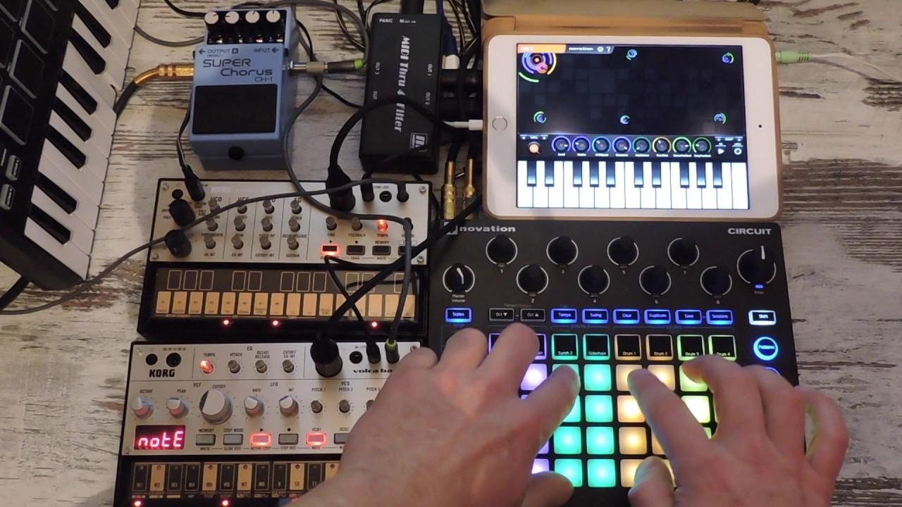 novation circuit live electronic jam 2 korg volca ipad marcinnovation circuit live electronic jam 2 korg volca ipad marcin kamiński music youtube