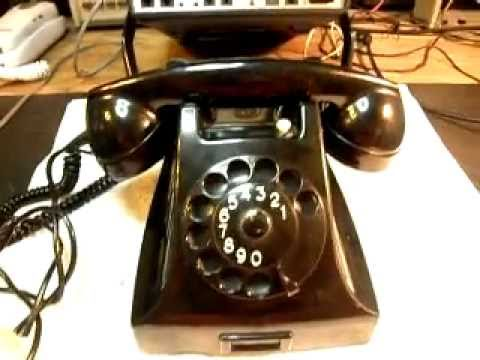 PTT Holland Telephone Repair Black Rotary Desk  www.A1-Telephone.com 618-235-6959