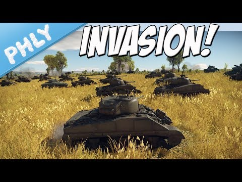 SHERMAN INVASION - 60 Shermans Vs 4 Mäuse ( War Thunder Gameplay)