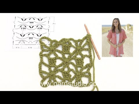 How to crochet the jacket with seamless sleeves in DROPS 175-5