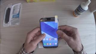 Клеим оригинальную плёнку на Samsung Galaxy A7 (2017)