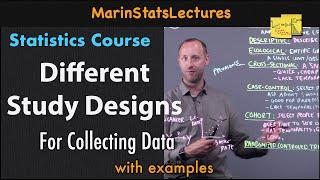 Study Designs (Cross-sectional, Case-control, Cohort) | Statistics Tutorial | MarinStatsLectures