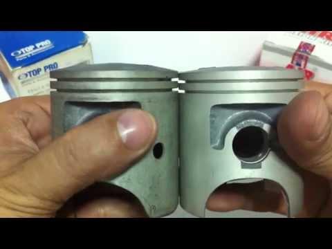 รีวิว ลูกทีแซดอาร์150 VS ลูกวีอาร์150 YAHAMA TZR 150 VS VR 150  piston
