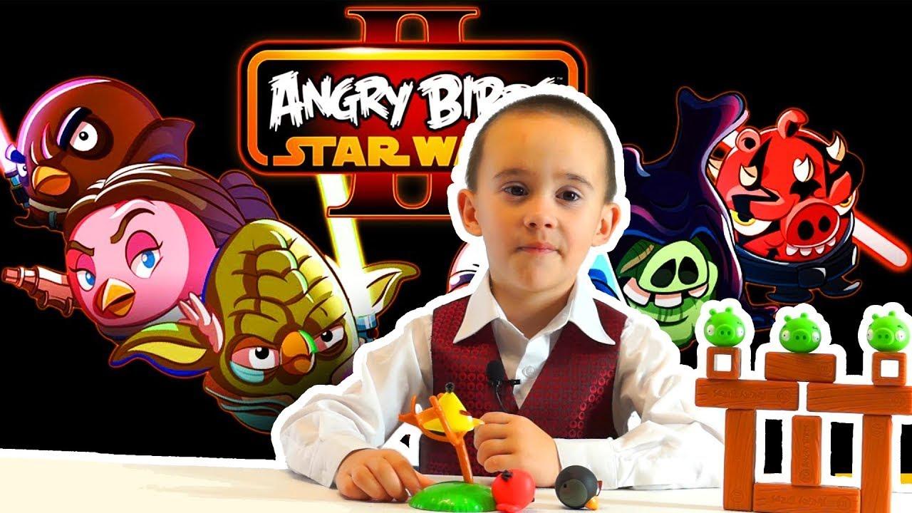 Игрушки для детей. Angry Birds Star Wars. Распаковка и обзор игрушек