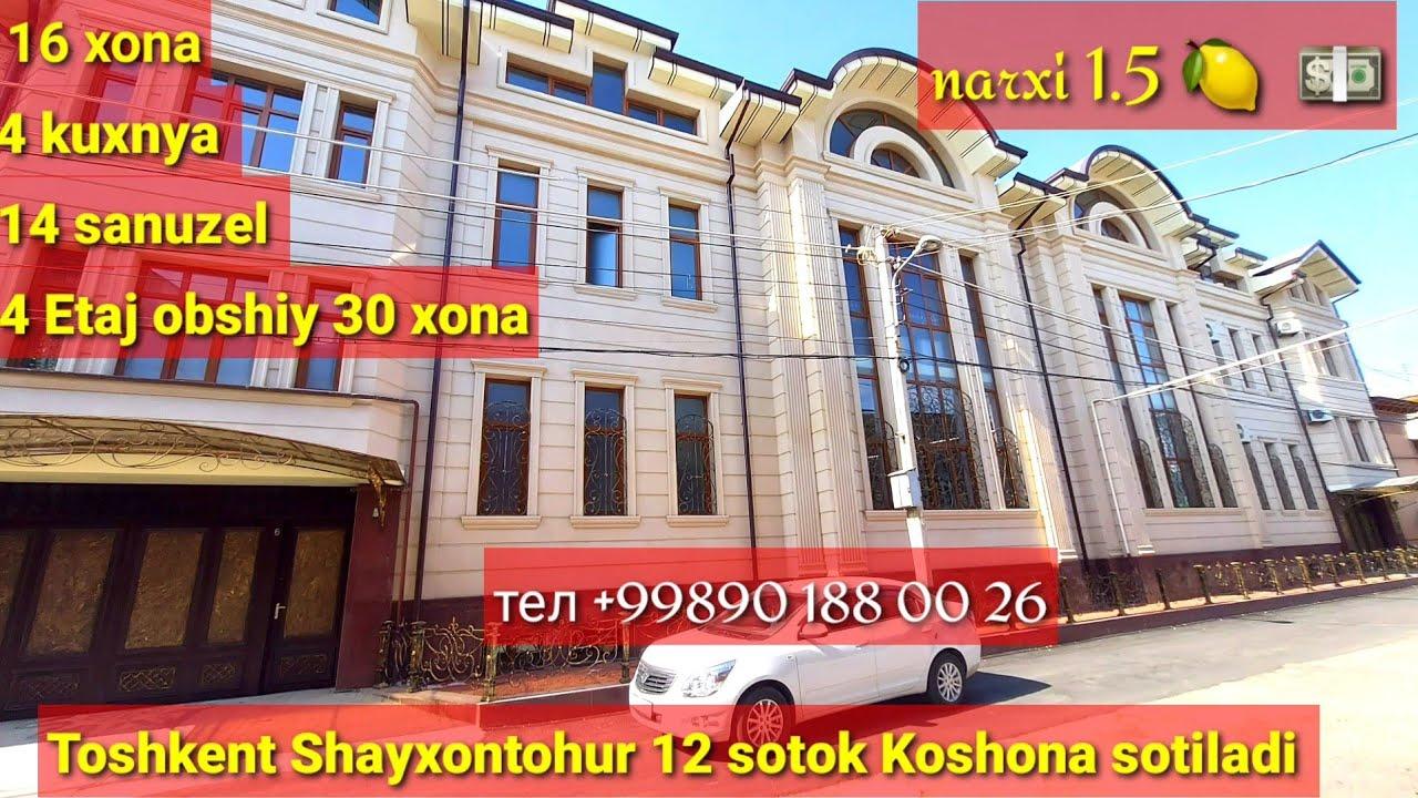 Download Katta xovli sotuvda Toshkent Shayxontohur 12 sotok 16 xona 4 qavat narxi 1,5  🍋 💵