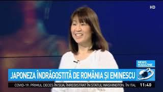 """Japoneza îndrăgostită de România și Eminescu: """"Aerul de aici mă inspiră!"""""""