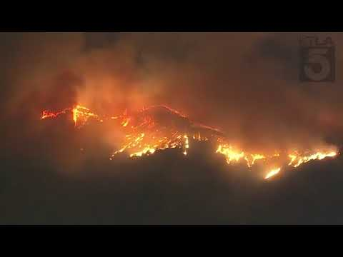 Live  Wildfires has broken out near the Getty Museum in Bentwood  7-12-2017