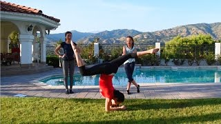Gymnastic challenge with my sisters!