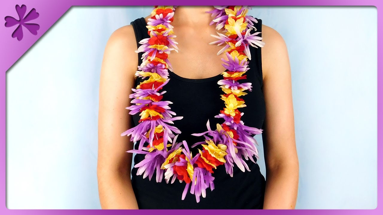 Diy how to make lei hawaiian garland out of artificial flowers eng diy how to make lei hawaiian garland out of artificial flowers eng subtitles speed up 381 izmirmasajfo