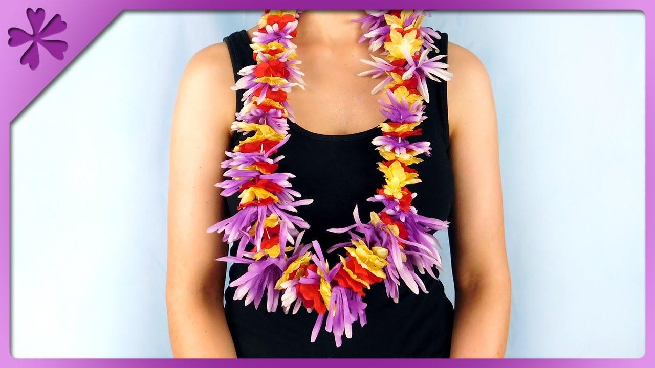 Diy how to make lei hawaiian garland out of artificial flowers eng diy how to make lei hawaiian garland out of artificial flowers eng subtitles speed up 381 izmirmasajfo