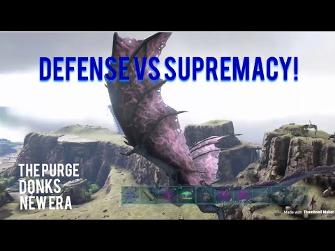 ARK Official PvP Defense vs Supremacy!!