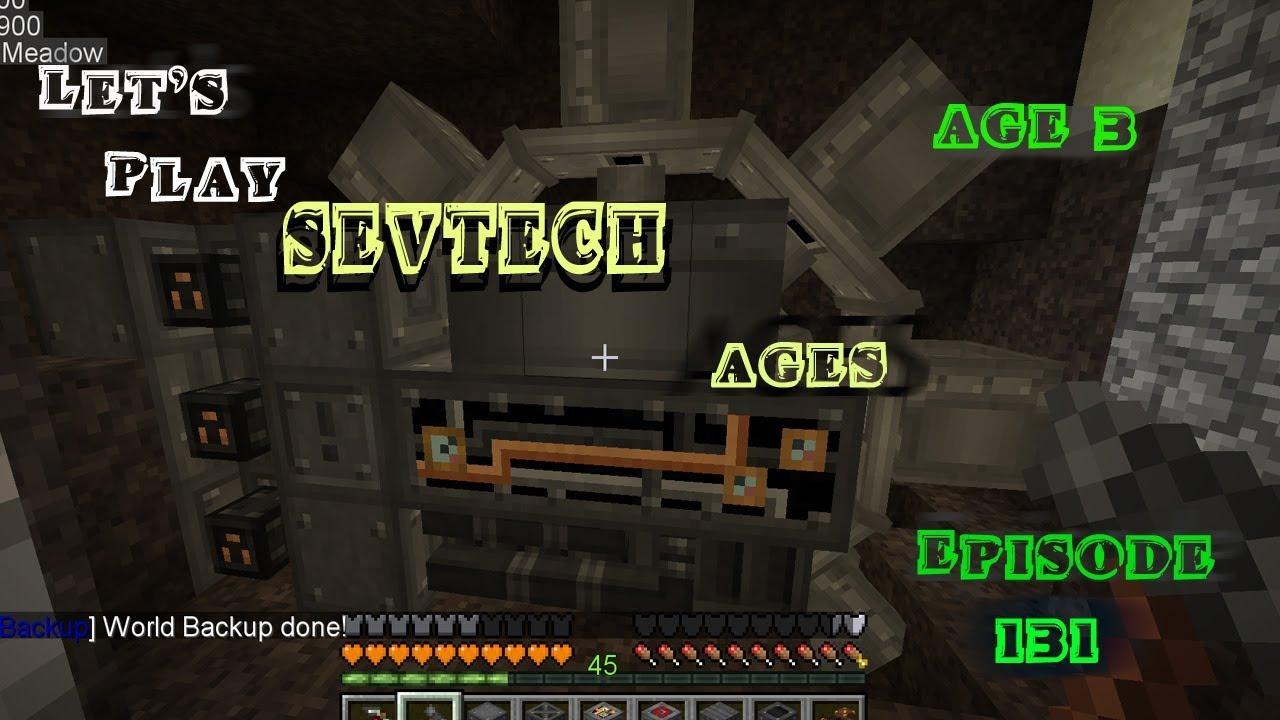 Minecraft Sevtech Ages Episode 131: The Excavator Turns!