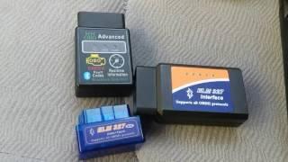 проба OBD-II ELM 327 адаптеров на Hyundai Santa Fe Classic