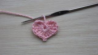 Вязание крючком. Урок 13 - Маленькое сердечко | Small heart crochet