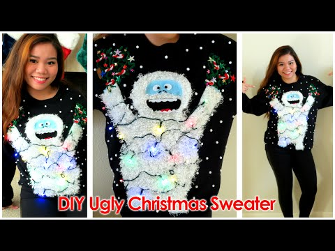 DIY: Ugly Christmas Sweater 2014 (Abominable Snowmonster) 🎄