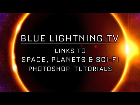 Space, Planets & Sci-Fi:  Photoshop Tutorial Links from Blue Lightning TV thumbnail