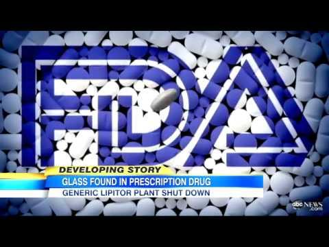Generic Lipitor Alternative Contain Glass Particles, Ranbaxy Plant Closed After FDA Investigatio