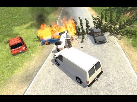 Multi-Vehicle Pileup Crashes 14   BeamNG.drive