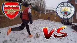 WINTER GARDEN FOOTBALL CHALLENGES Arsenal v Man City