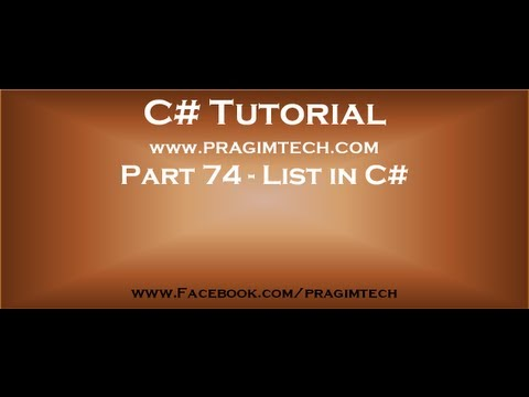 Part 74   List collection class in c#