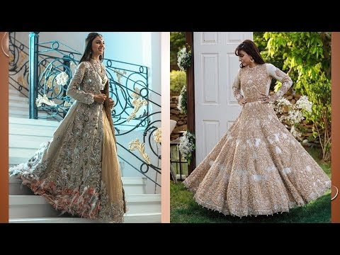 Heavy Work Light Color Bridal Gown Designs 2018